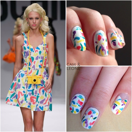 Moschino Barbie nail art