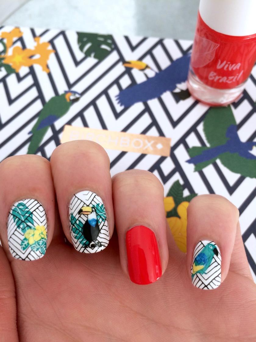 nail art viva brazil nailmatic