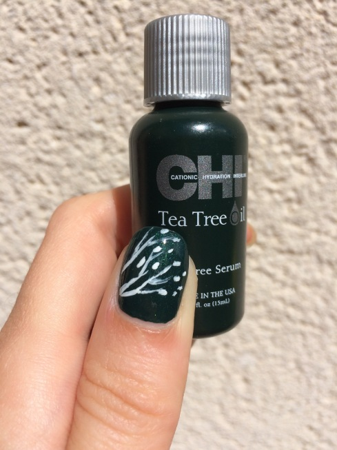 tea tree oil serum nail art