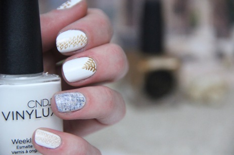 nail art tweed