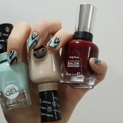 b girl sally nail art